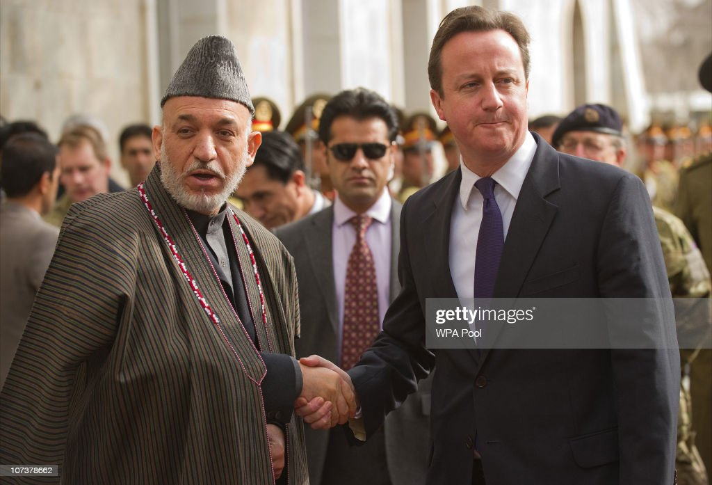British Prime Minister David Cameron In Afghanistan