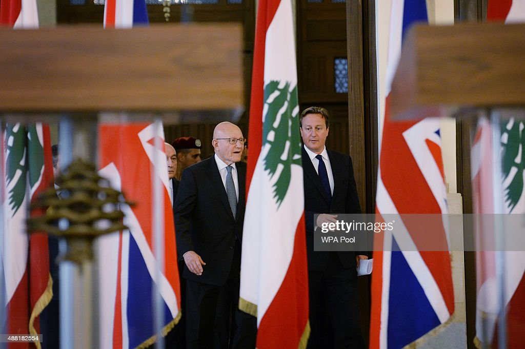 British Prime Minister David Cameron Visits Lebanese Refugee Camp
