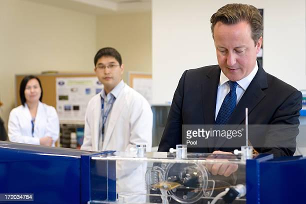British Prime Minister David Cameron meets students at Nazarbayev University on July 1 2013 in Astana Kazakhstan Cameron is visiting Kazakhstan as...