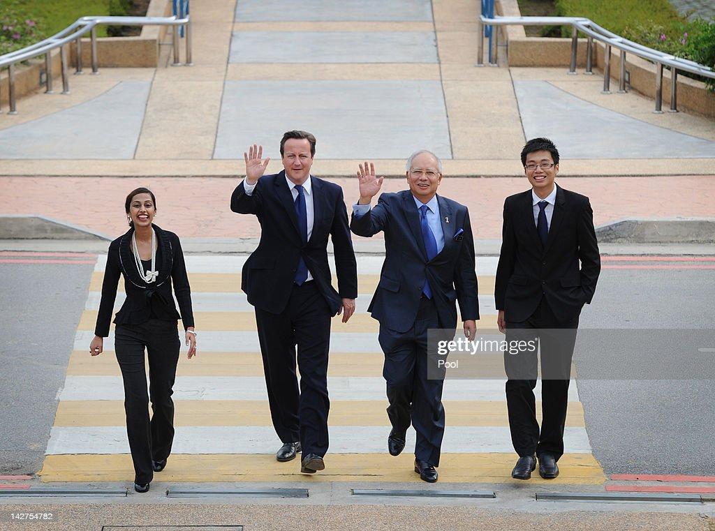 Prime Minister David Cameron Visits Malaysia