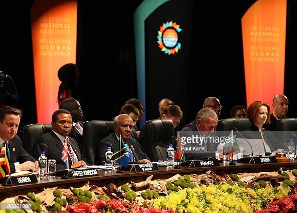 British Prime Minister David Cameron President of Tanzania Jakaya Mrisho Kikwete Prime Minister of Vanuatu Sato Kilman Vice President of Zambia...