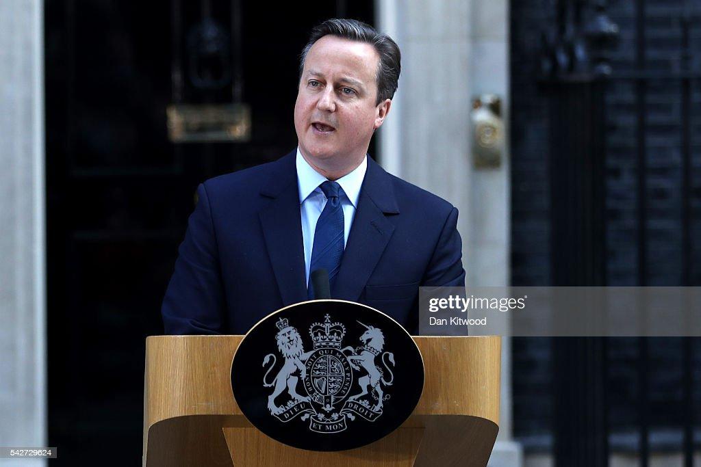 David Cameron Resigns After EU Referendum Result : News Photo