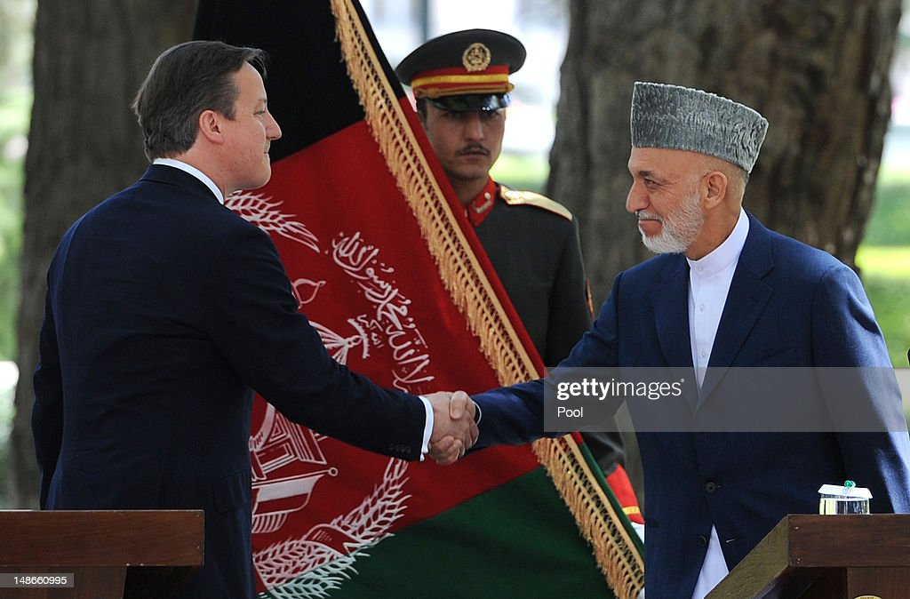 British Prime Minister David Cameron visits Afghanistan - Day Two : News Photo