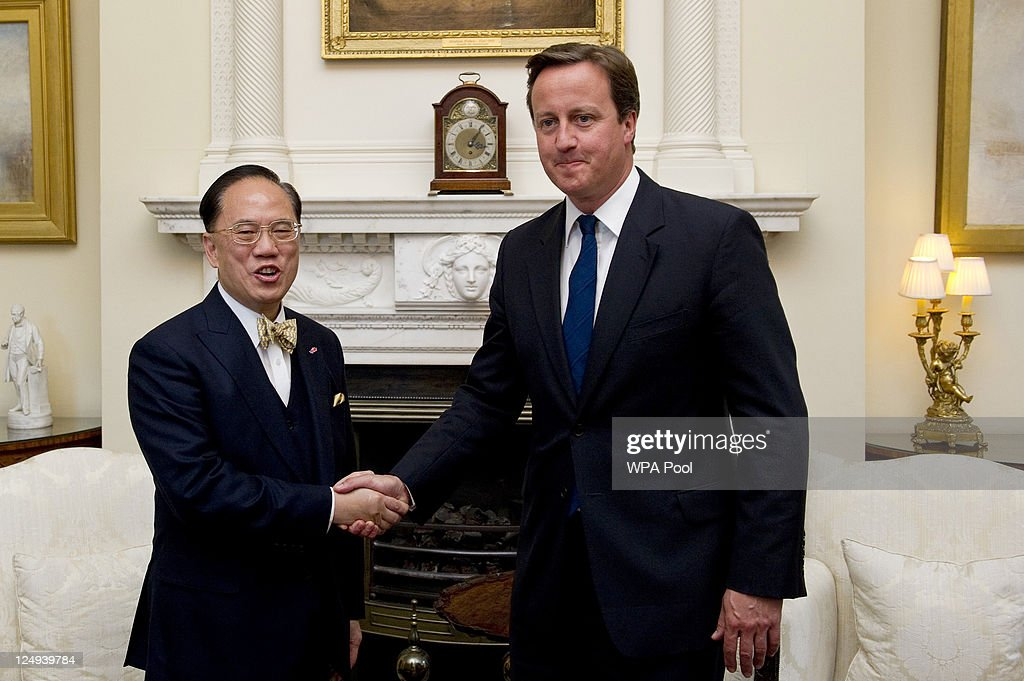 Prime Minister David Cameron Meets Hong Kong Chief Executive Donal Tsang