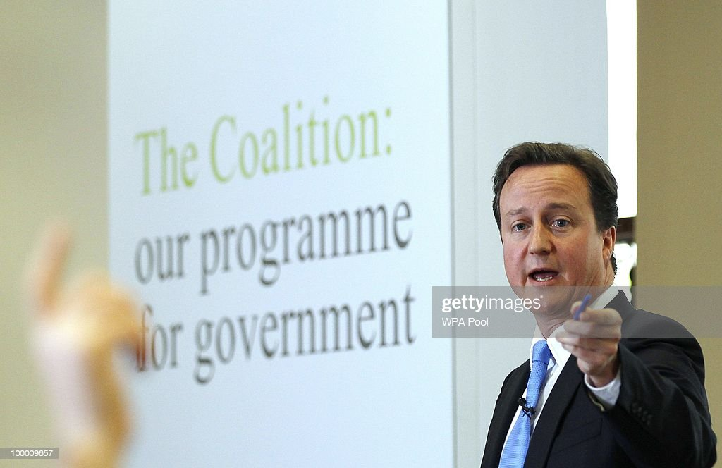 David Cameron And Nick Clegg Launch Coalition Agreement Programme