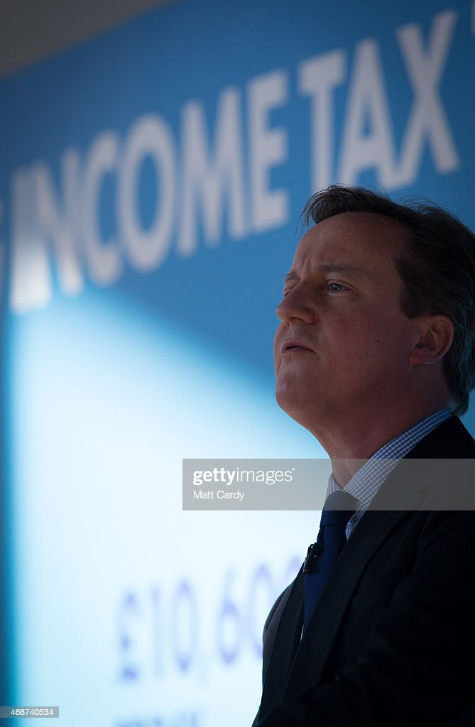 British Prime Minister David Cameron speaks to party supporters gathered at the Bristol and Bath Science Park on April 6, 2015 in Bristol, England. Campaigning continued today in what is predicted to be Britain's closest national election which will take place on May 7.
