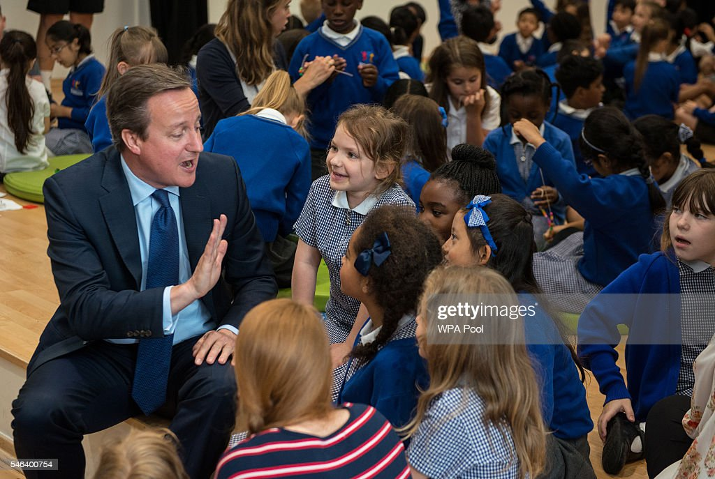 David Cameron Makes His Last Official Visit As Prime Minister : News Photo