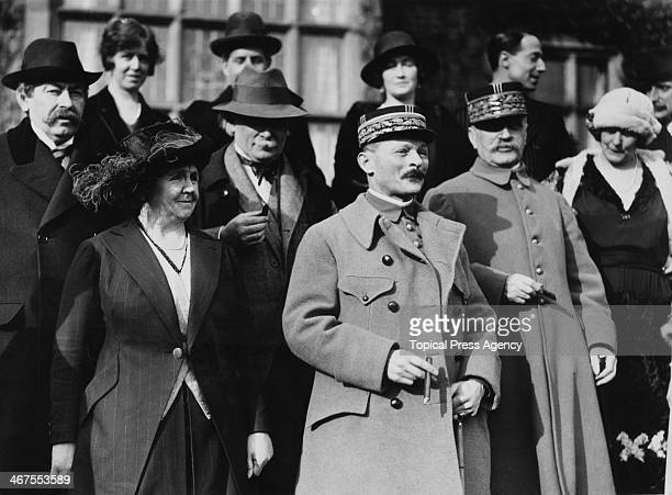 British Prime Minister David Lloyd George and French representatives during a Conference at Chequers the Prime Minister's residence in...