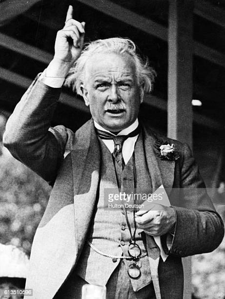 British Prime Minister David Lloyd George speaking