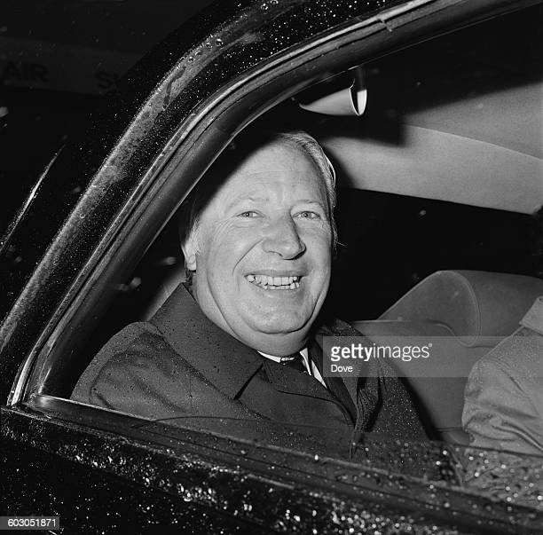 British Prime Minister Edward Heath arrives at London Airport from Singapore having attended the Commonwealth Heads of Government Meeting 23rd...