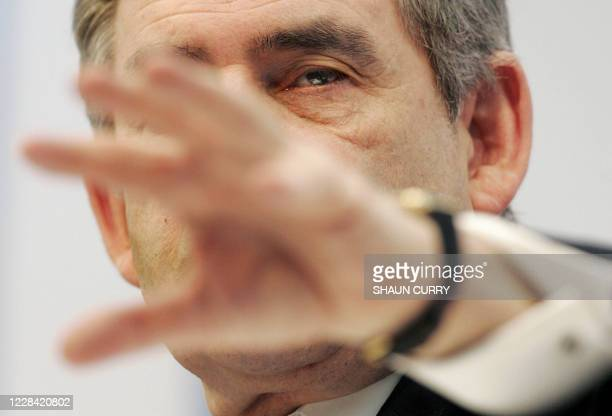 British Prime Minister Gordon Brown addresses the Confederation of British Industry, Interactive Conference 2007, in central London, 26 November...