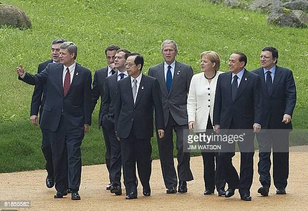 British Prime Minister Gordon Brown Canadian Prime Minister Stephen Harper French President Nicolas Sarkozy Russian President Dmitriy Medvedev...