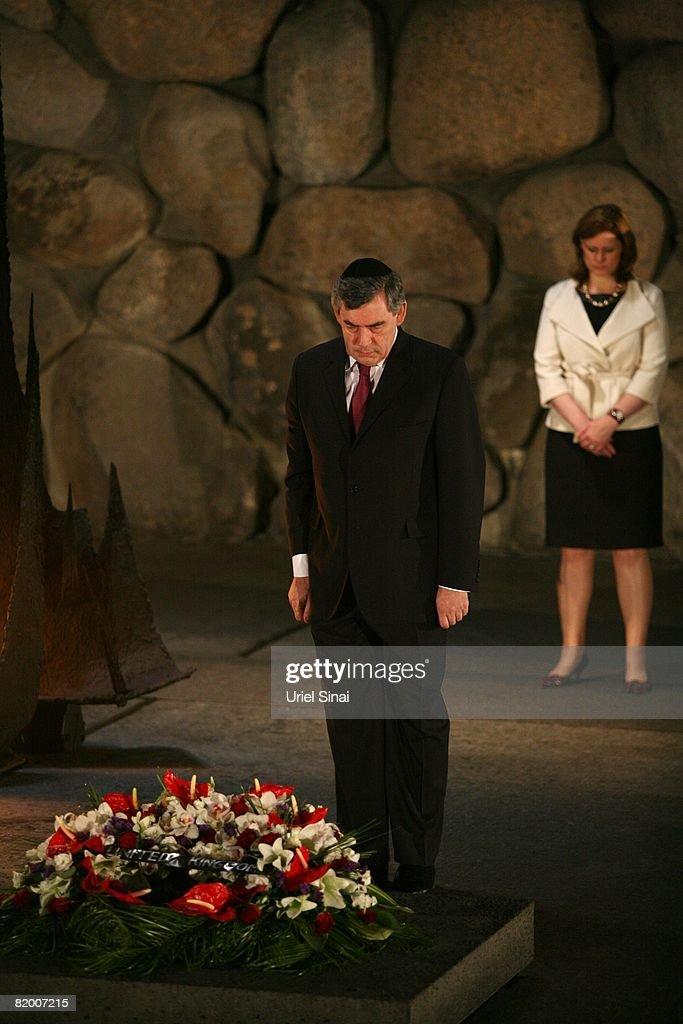 British Prime Minister Gordon Brown Visits Israel : ニュース写真