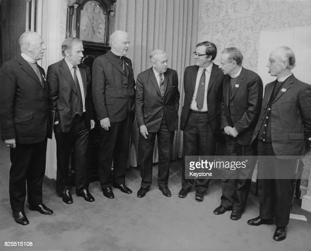 British Prime Minister Harold Wilson holds peace talks with Ulster ministers and clergymen at 10 Downing Street with the aim of extending the...