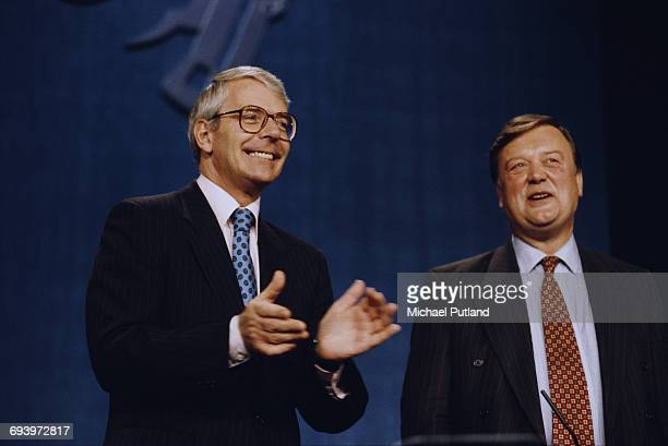 British Prime Minister John Major and Chancellor of the Exchequer Kenneth Clarke at The Conservative Party Conference in Bournemouth Dorset October...