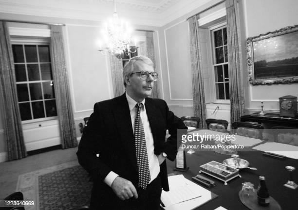 British Prime Minister John Major photographed at 10 Downing Street in London, England circa 1995.