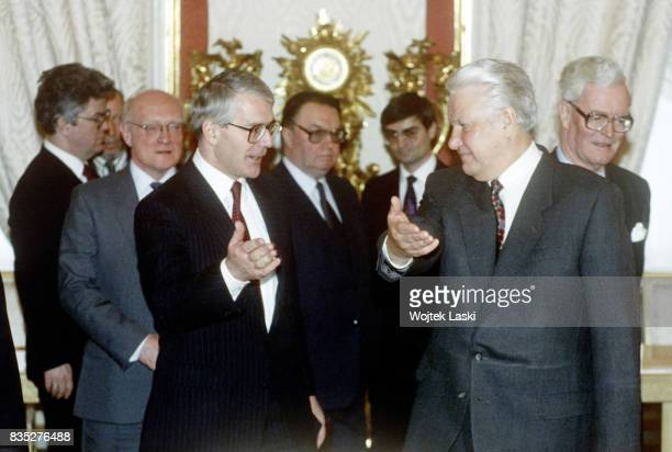 British Prime Minister John Majors's official visit to Russia. Pictured: a meeting with the Russian President Boris Yeltsin. Moscow, Russia, on 12th...
