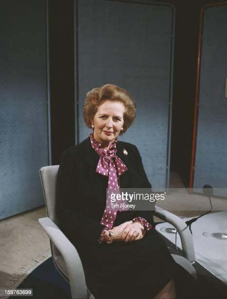 British Prime Minister Margaret Thatcher, circa 1990.