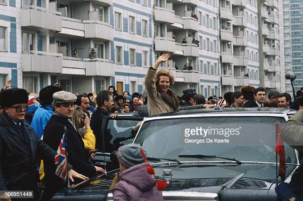 British Prime Minister Margaret Thatcher during a visit to Moscow March 1987