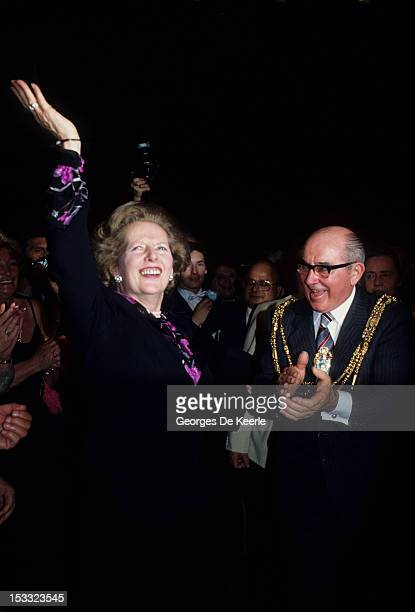 British Prime Minister Margaret Thatcher during the Conservative Party Conference in Brighton 10th October 1984