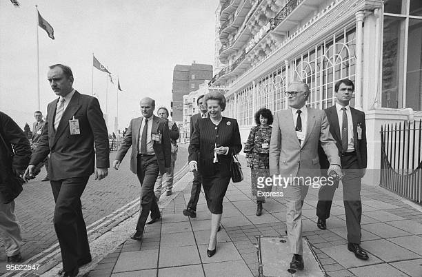 British Prime Minister Margaret Thatcher in Brighton Sussex during the Conservative Party Conference 21st October 1988