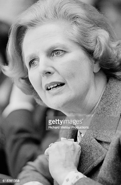 British Prime Minister Margaret Thatcher listens with interest at the 1980 Luxembourg Summit. Thatcher refused all her European partners' proposals regarding a British contribution to the budget of the EEC and the setting of agricultural prices for the common market.
