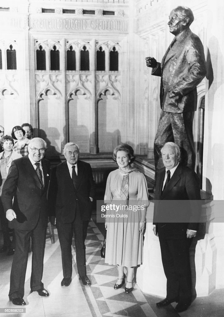 Margaret Thatcher And Former Prime Ministers : News Photo