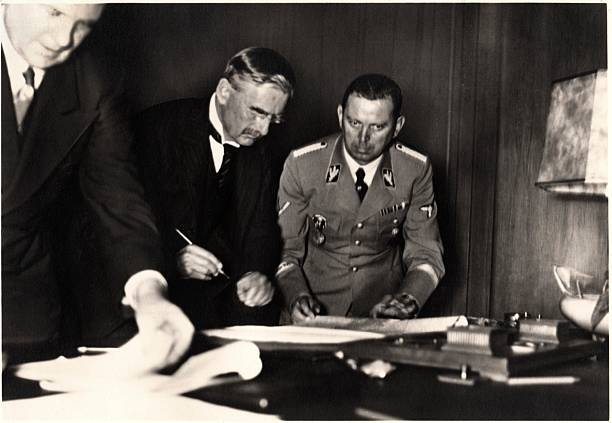 Neville Chamberlain Munich Agreement Pictures Getty Images