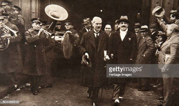 British Prime Minister Ramsay MacDonald in New York being escorted by Grover Whalen 1929 James Ramsay MacDonald was a British politician and twice...
