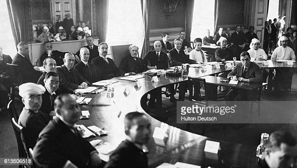 British Prime Minister Ramsay MacDonald presides over a conference on India at St James's Palace