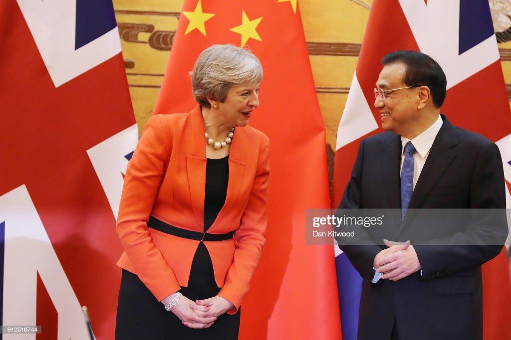 British Prime Minister Theresa May Visits China