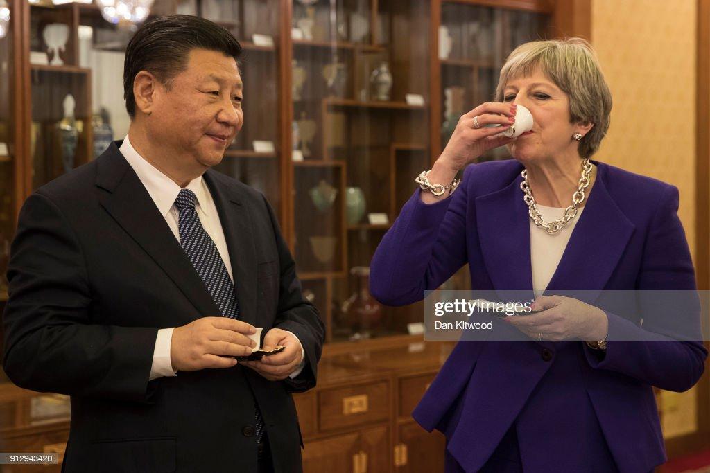 British Prime Minister China Visit - Day Two : News Photo