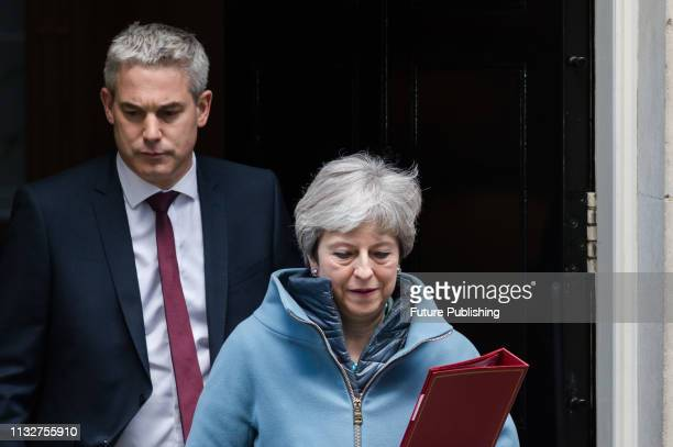 British Prime Minister Theresa May and Secretary of State for Exiting the European Union Stephen Barclay leave 10 Downing Street in central London...