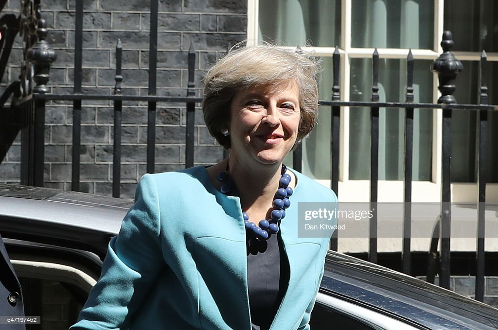 British Prime Minister Theresa May arrives at 10 Downing Street to appoint her cabinet on July 14, 2016 in London, England. Former Home Secretary Theresa May becomes the UK's second female Prime Minister after she was selected unopposed by Conservative MPs to be their new party leader. She is currently MP for Maidenhead.