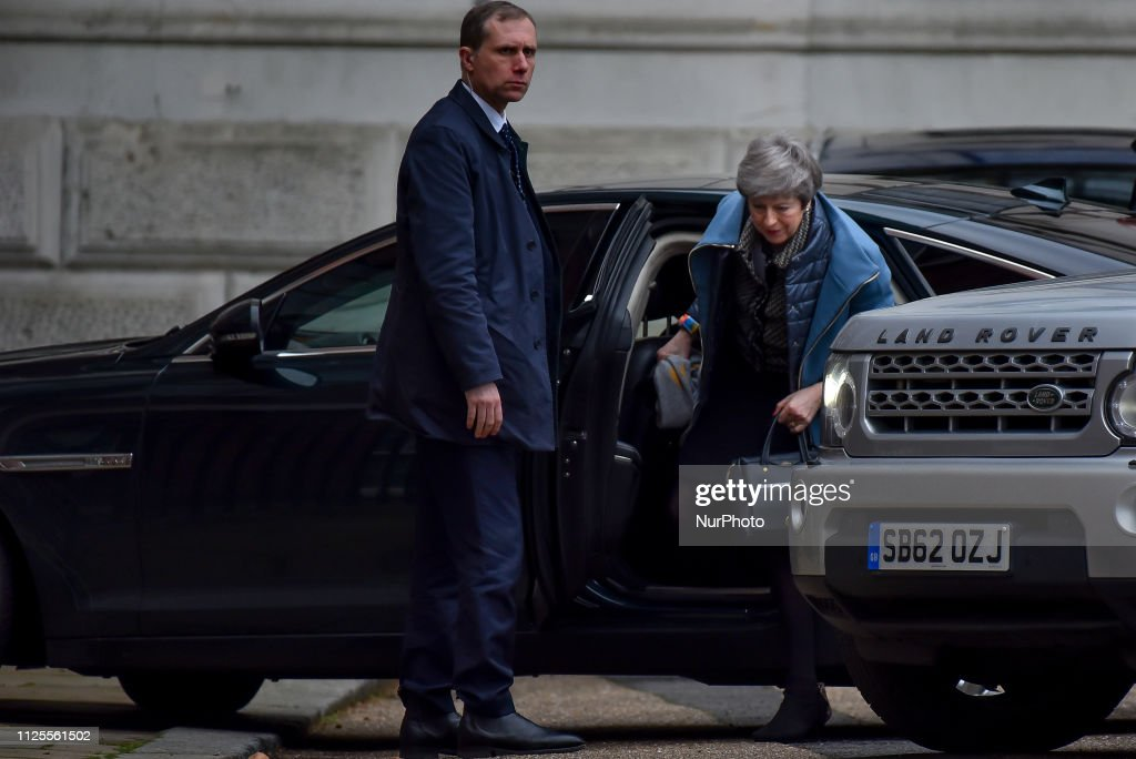 GBR: Theresa May Arrives At Downing Street