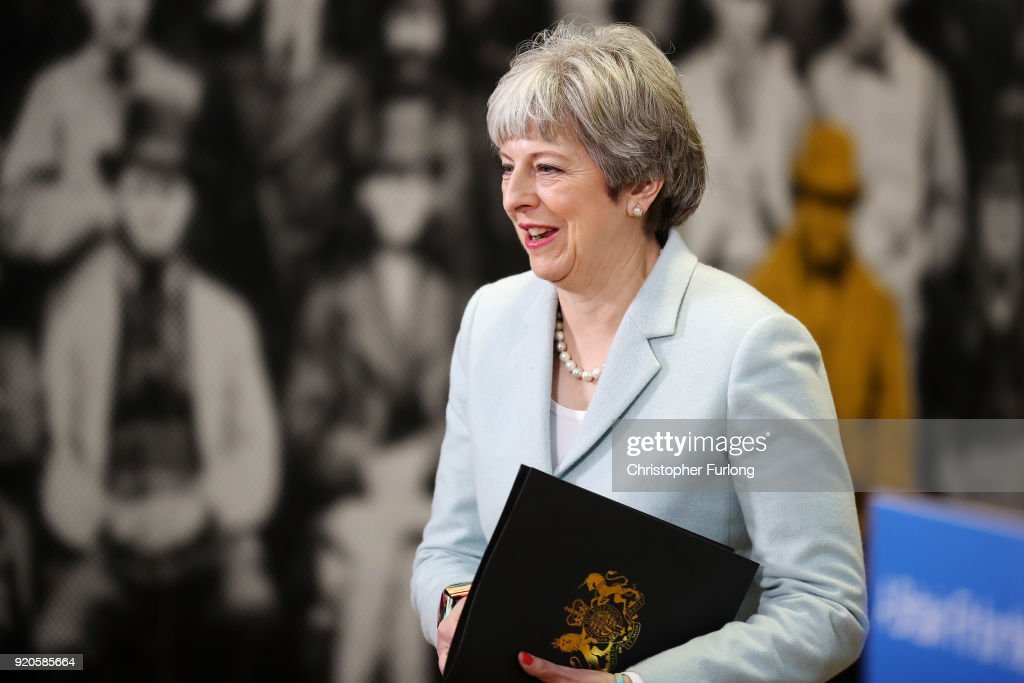 Theresa May Delivers Key Education Speech In Derbyshire