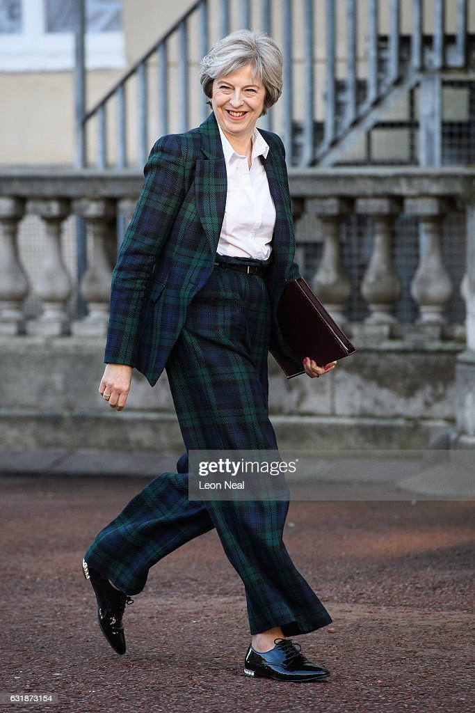 British Prime Minister Theresa May arrives to deliver her keynote speech on Brexit at Lancaster House on January 17, 2017 in London, England. It is widely expected that she will announce that the UK is to leave the single market.