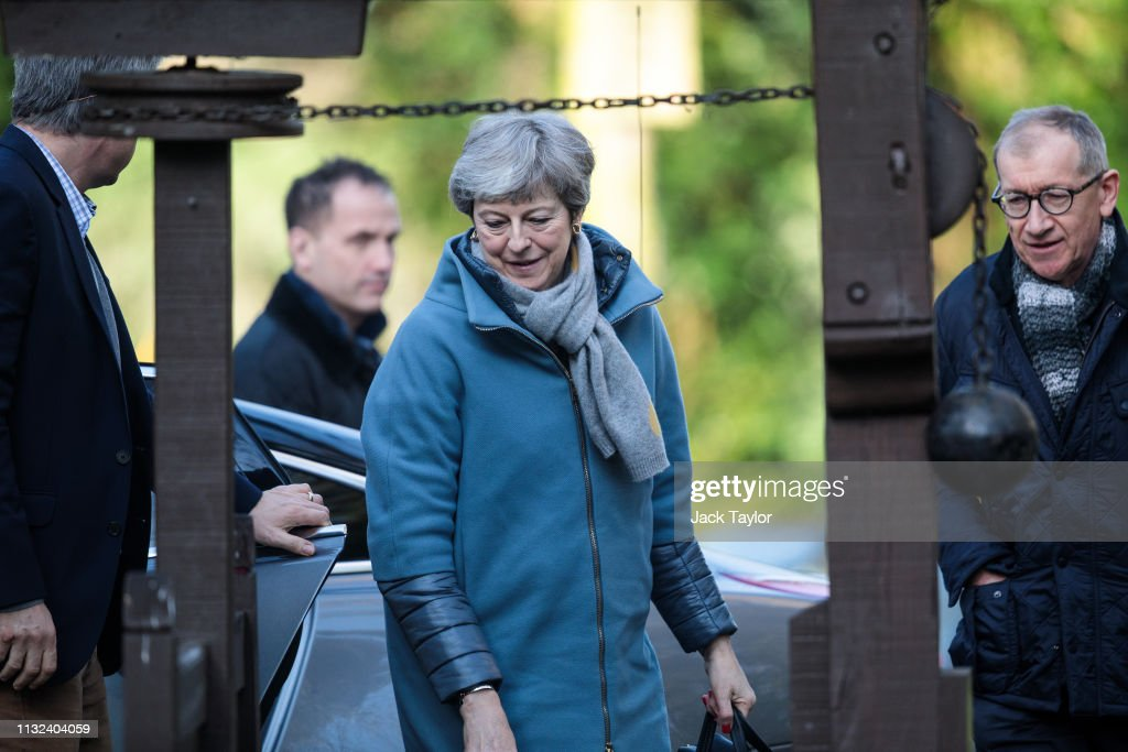 GBR: Theresa May Attends Church With Her Husband