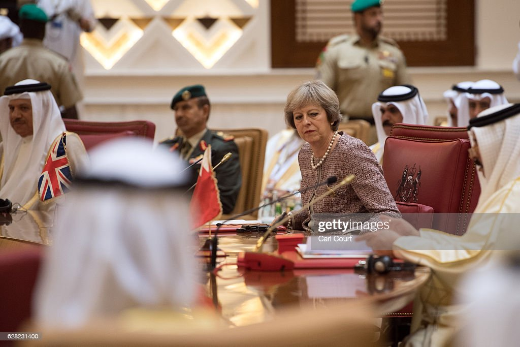 British Prime Minister Attends The 37th Gulf Cooperation Council : News Photo