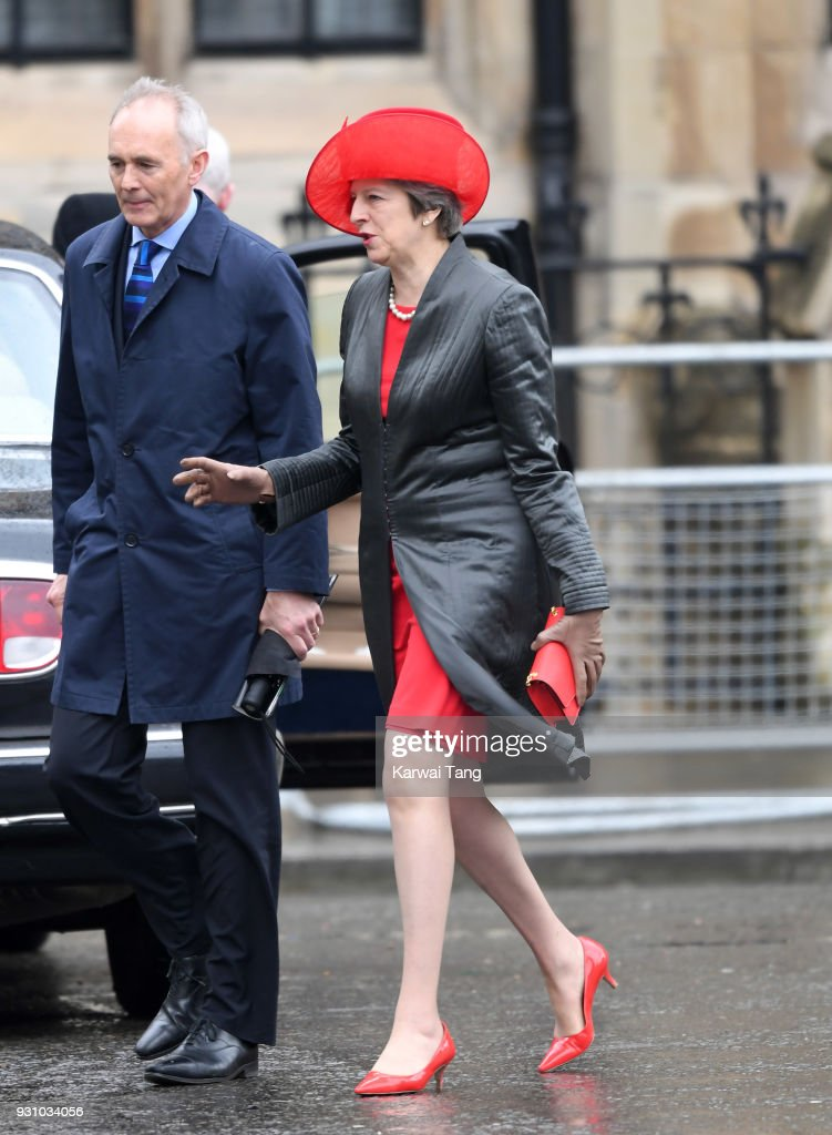 British Prime Minister Theresa May attends the 2018 Commonwealth Day service at Westminster Abbey on March 12, 2018 in London, England.