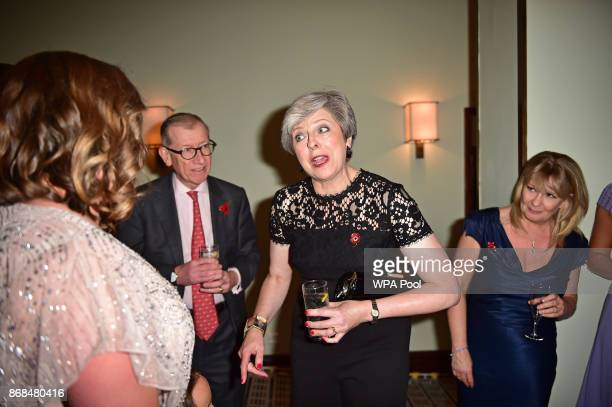 British Prime Minister Theresa May attends the Pride Of Britain Awards at the Grosvenor House on October 30 2017 in London England