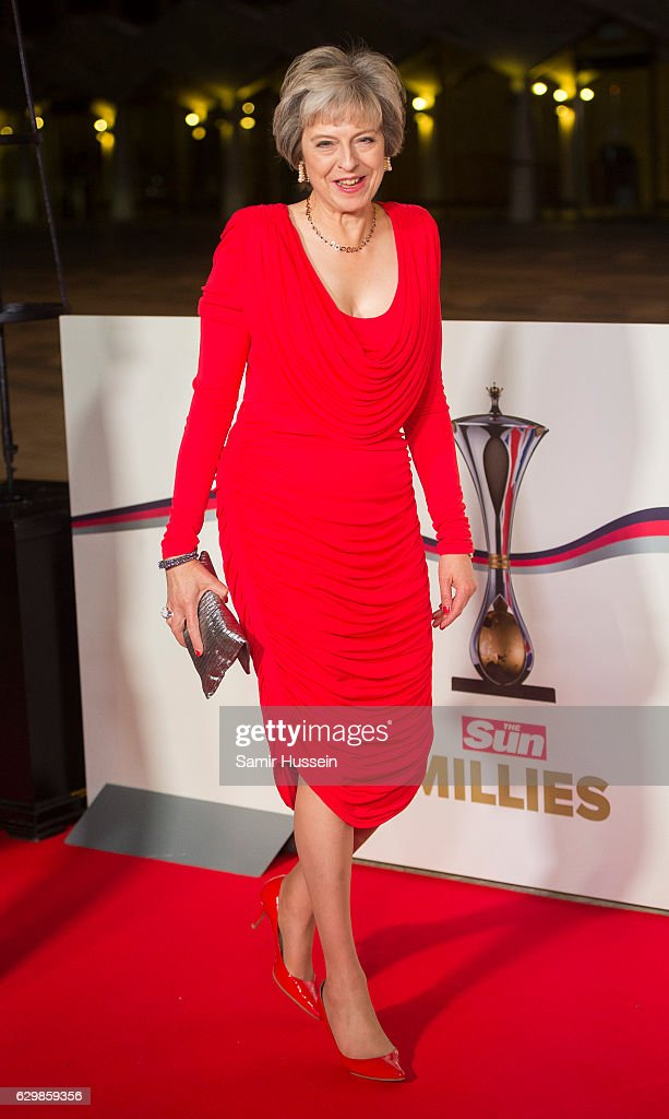 British Prime Minister Theresa May attends The Sun Military Awards at The Guildhall on December 14, 2016 in London, England.