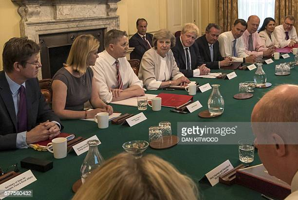 British Prime Minister Theresa May chairs her first Cabinet meeting in 10 Downing Street in London on July 19 2016 Prime Minister Theresa May warned...