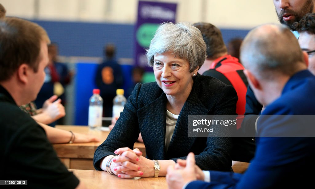 GBR: Theresa May Campaigns In Lancashire Ahead Of Local Elections