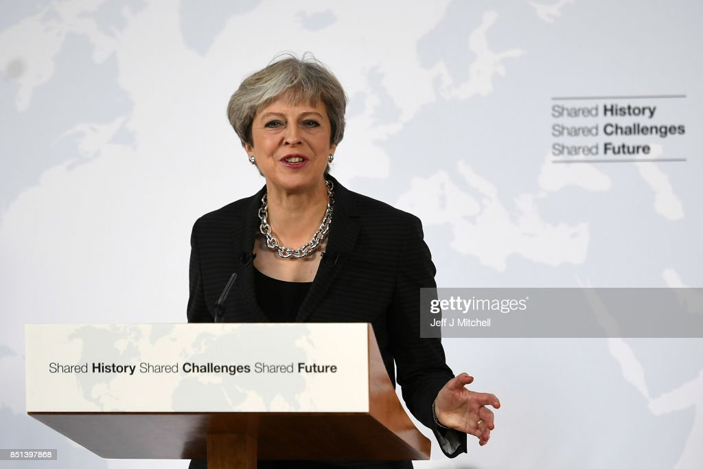 British Prime Minister Delivers Landmark Brexit Speech