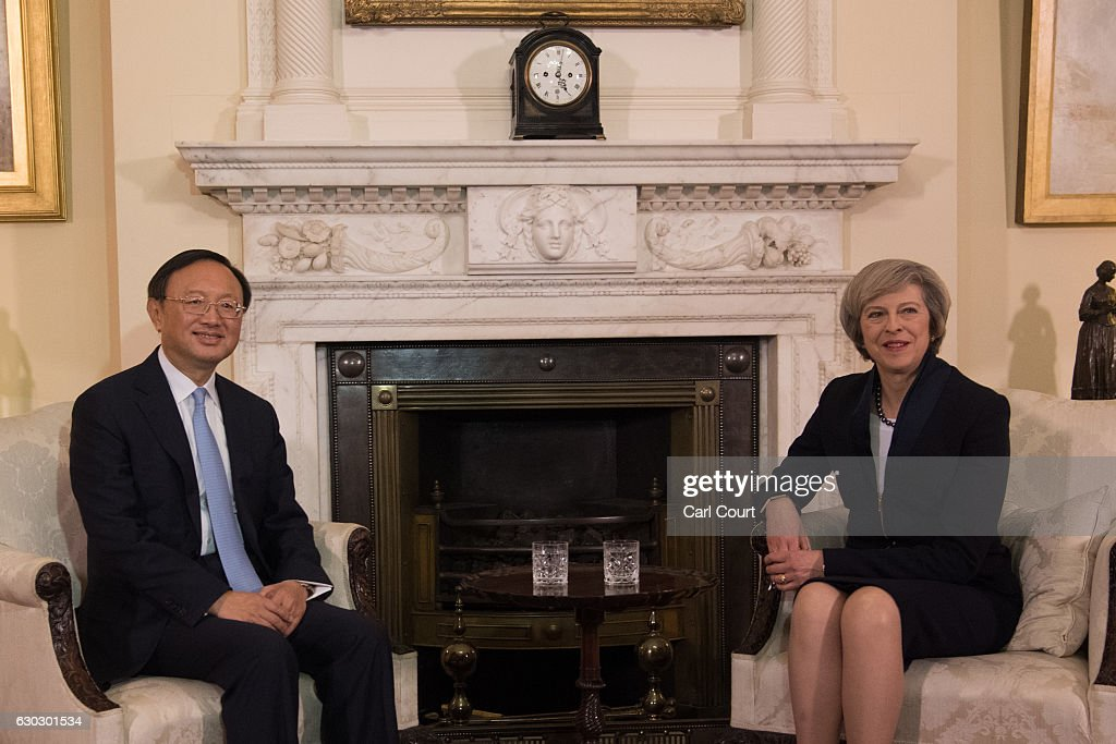 Theresa May Meets With Chinese Councillor Yang Jiechi