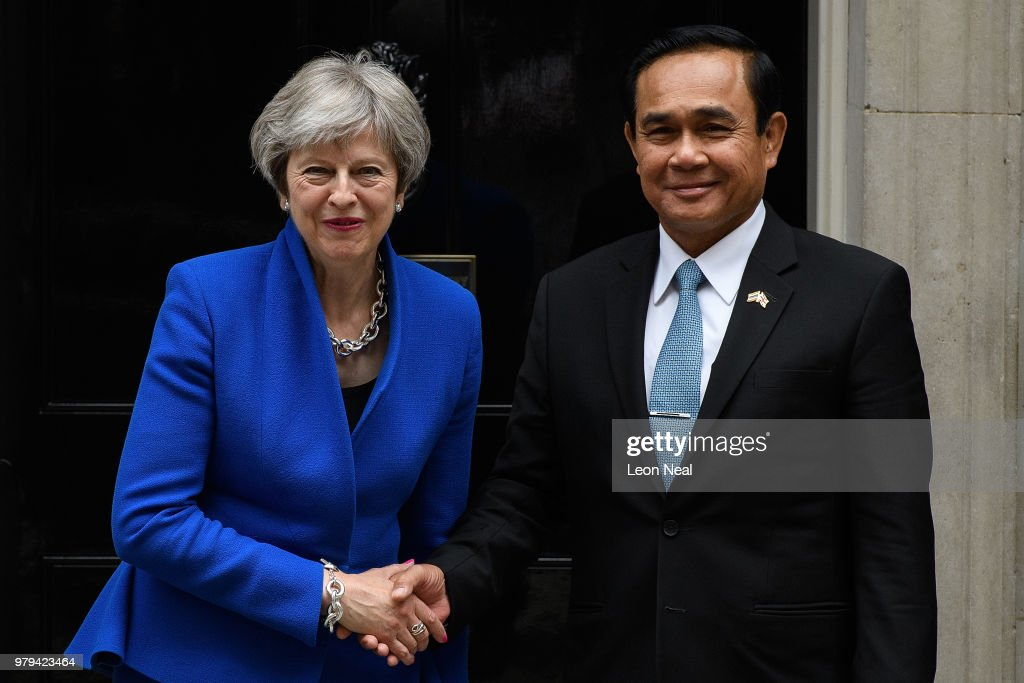 Theresa May Meets Prime Minister Of The Kingdom Of Thailand