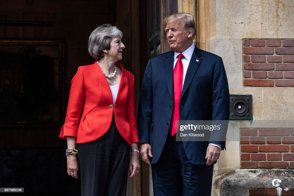 GBR: President Donald Trump And British Prime Minister Theresa May Hold Bi-lateral Talks At Chequers