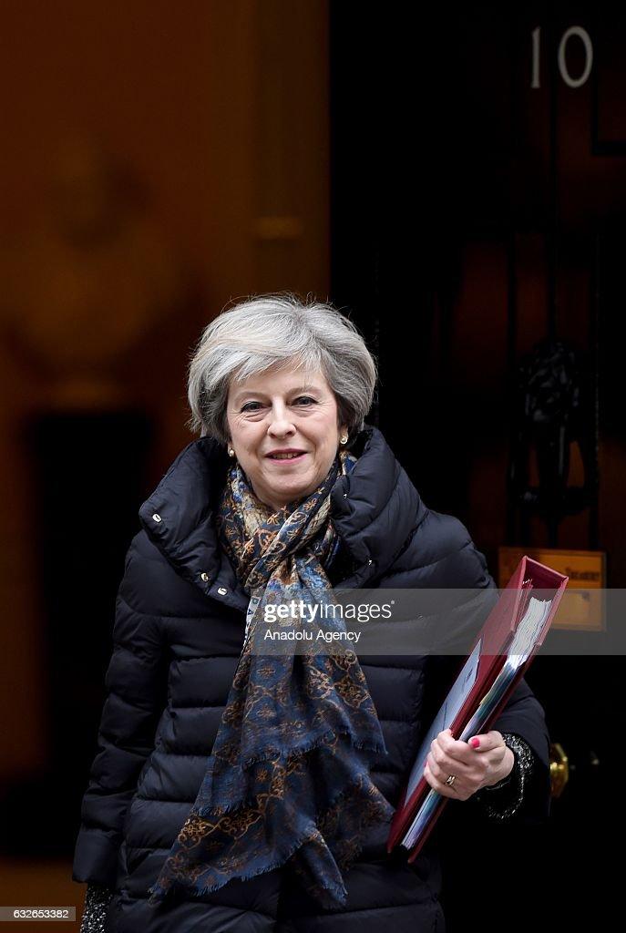 British Prime Minister Theresa May... : News Photo