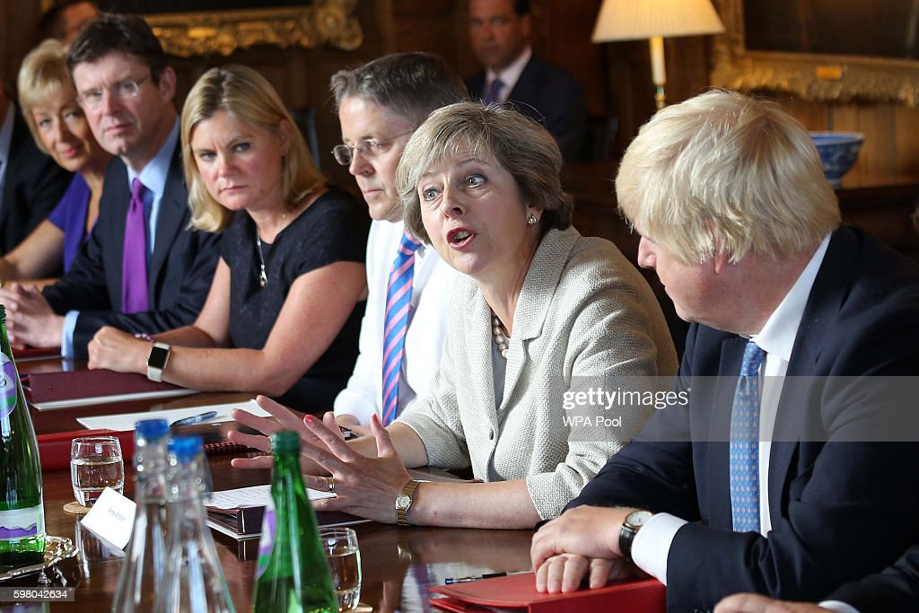 The Prime Minister Holds A Cabinet Meeting At Chequers : News Photo